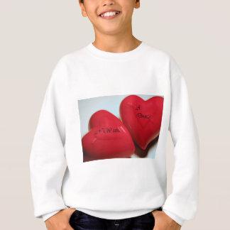 私は離婚のハートのスエットシャツがほしいと思います スウェットシャツ