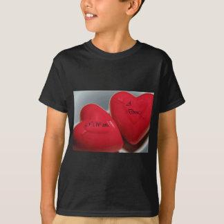私は離婚のハートの子供のワイシャツの黒がほしいと思います Tシャツ