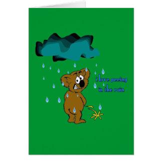 私は雨で小便をすることを好みます カード