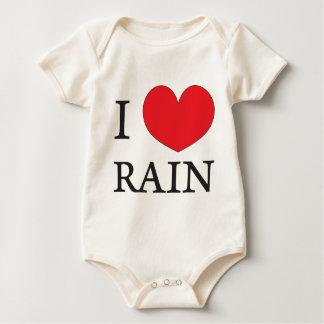 私は雨を愛します ベビーボディスーツ