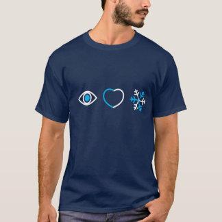 私は雪の暗闇のTシャツを愛します Tシャツ