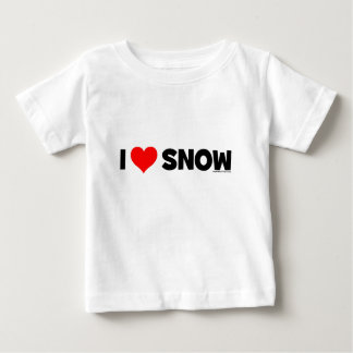 私は雪を愛します ベビーTシャツ