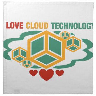 私は雲の技術を愛します ナプキンクロス