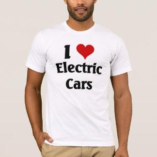 私は電気自動車を愛します Tシャツ
