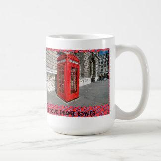 私は電話箱を愛します コーヒーマグカップ