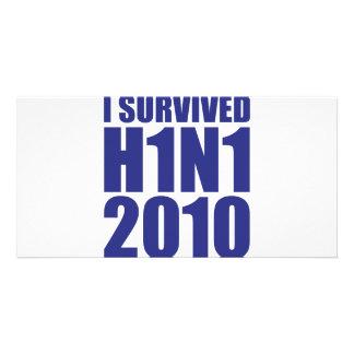 私は青のH1N1 2010年を生き延びました カード