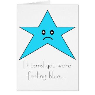 私は青を…感じていたことを聞きました カード