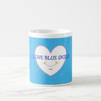 """""""私は青空""""のマグ愛します コーヒーマグカップ"""