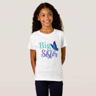私は青緑の蝶が付いている姉のワイシャツです Tシャツ