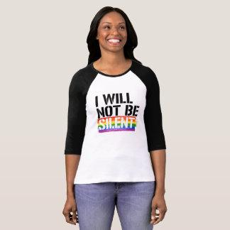 私は静かな- - LGBTQの権利はではないです- Tシャツ