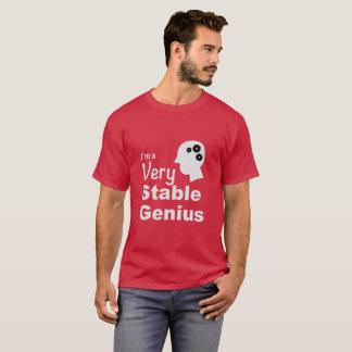 私は非常に安定した天才です Tシャツ