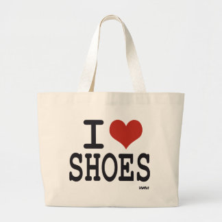 私は靴を愛します ラージトートバッグ
