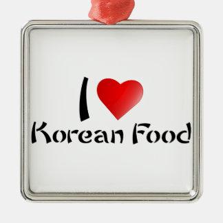 私は韓国の食糧を愛します メタルオーナメント