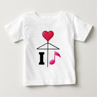 私は音楽を愛しますか、または傘かMistletoe2ピンクを愛します ベビーTシャツ