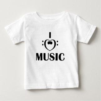 私は音楽を愛します ベビーTシャツ