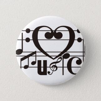 私は音楽を愛します 5.7CM 丸型バッジ
