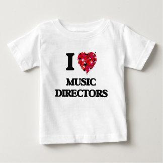 私は音楽ディレクターを愛します ベビーTシャツ