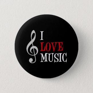 私は音楽ボタンを愛します 5.7CM 丸型バッジ