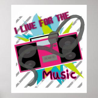 私は音楽ポスターのために住んでいます ポスター
