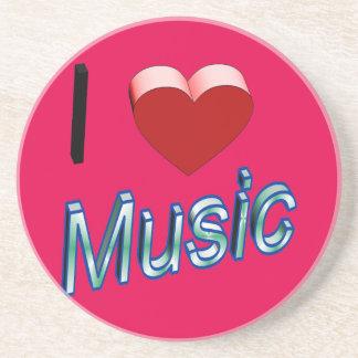 私は音楽2を愛します コースター