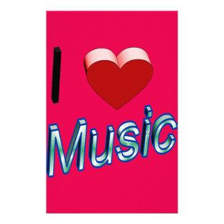 私は音楽2を愛します 便箋