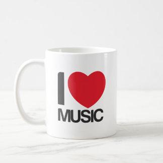 私は音楽Tazaを愛します コーヒーマグカップ
