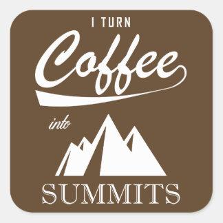私は頂上にコーヒーを回します スクエアシール