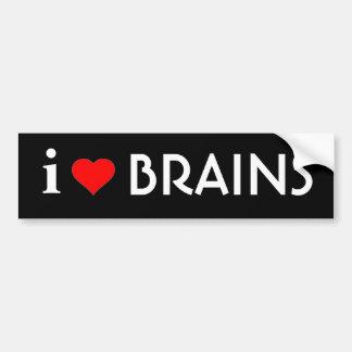 私は頭脳を愛します バンパーステッカー