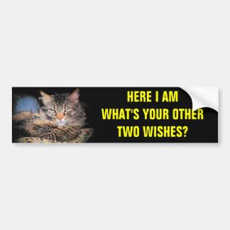 私は願いの第1子猫です バンパーステッカー