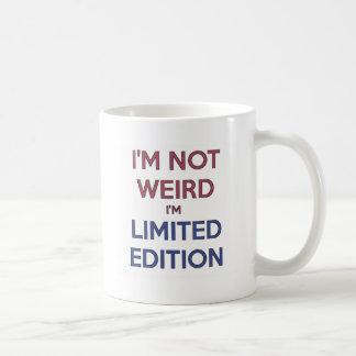 私は風変わり私です限定版の引用文の10代のなユーモアではないです コーヒーマグカップ