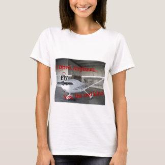 私は飛ばします飛行機を… Yes、実質の種類 Tシャツ