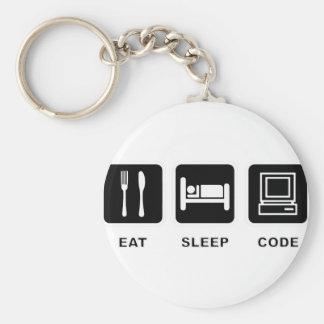 私は食べ、眠り、そしてコードします キーホルダー