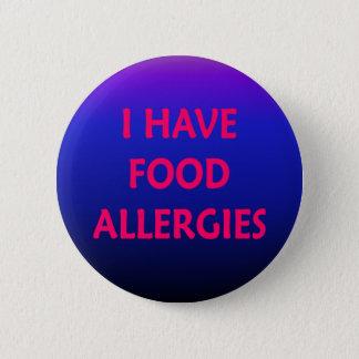 私は食物アレルギーを有します 5.7CM 丸型バッジ