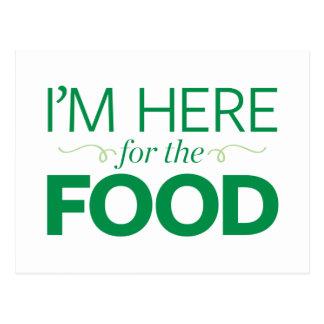 私は食糧のためにここにいます ポストカード