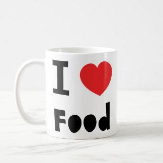 私は食糧を愛します コーヒーマグカップ