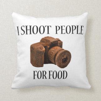 私は食糧チョコレートカメラの枕のための人々を撃ちます クッション