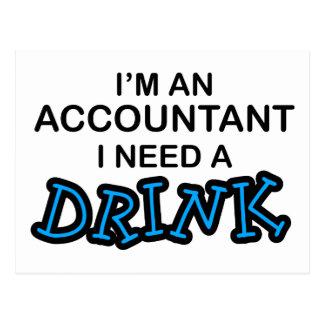 私は飲み物-会計士--を必要とします ポストカード