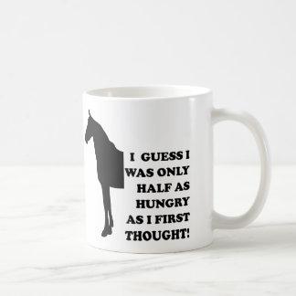 私は馬のおもしろマグカップかタンブラーを食べることができます コーヒーマグカップ