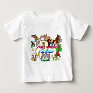 私は馬のような自閉症nを経験します ベビーTシャツ