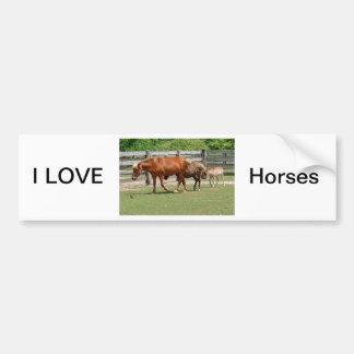 私は馬のバンパーステッカーを愛します バンパーステッカー
