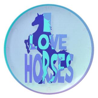 私は馬のプレートを愛します プレート