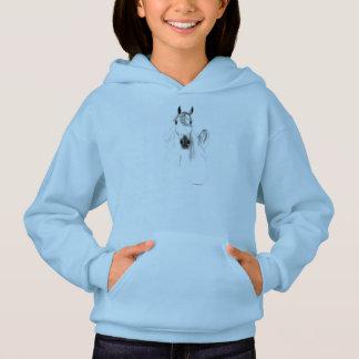 私は馬の女の子のフード付きスウェットシャツを愛します