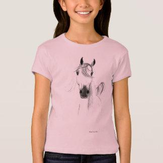私は馬の女の子のベビードールのワイシャツを愛します Tシャツ