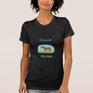 私は馬のTシャツを愛します Tシャツ