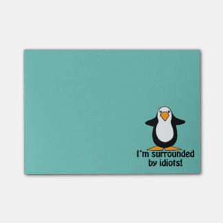 私は馬鹿によって囲まれます! おもしろいなペンギン ポストイット