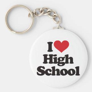 私は高等学校を愛します! ベーシック丸型缶キーホルダー