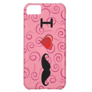私は髭のピンクの渦巻のIphoneの場合を愛します iPhone5Cケース