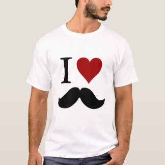 私は髭のTシャツを愛します Tシャツ