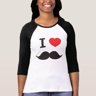 私は髭を愛します Tシャツ