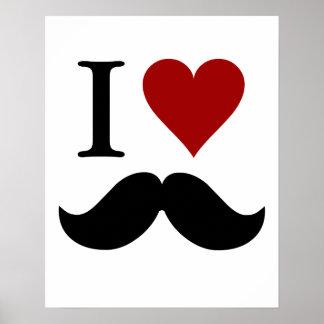 私は髭プリントかポスターを愛します ポスター